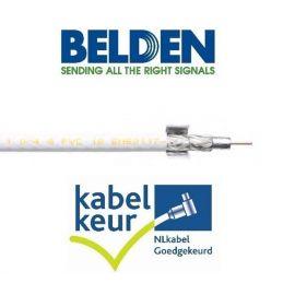 Belden H125D00 Coax DuoBond+ PVC KABELKEUR wit trekdoos 250m