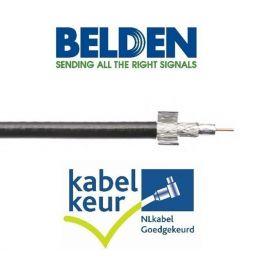 Belden H125D00 Coax DuoBond+ PVC KABELKEUR zwart haspel 500m