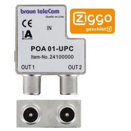 Braun Telecom POA 1/POA 01 A UPC Opdruk 2v IEC verdeler male