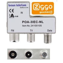 Braun Telecom POA 3 IEC-NL Radio-TV-DATA/Modem verdeler
