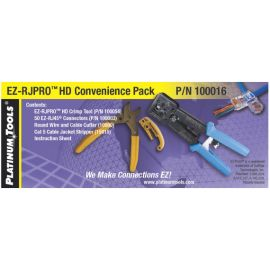 EZ-RJ45 HD CAT Pro Kit, Crimptool,Tang,Stripper,50 Connector