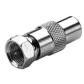 F-Connector Verloop F-male/IEC-male