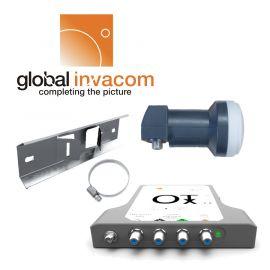 Global Invacom OTx KIT 1550, OTx + WideBand H/V LNB