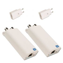 Hirschmann INCA 1G white + USB,SET SHOP Gigabit EoC adapters