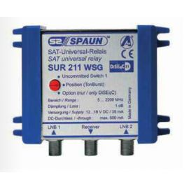 Spaun SUR211 WSG Uncomitted diseqc switch + behuizing