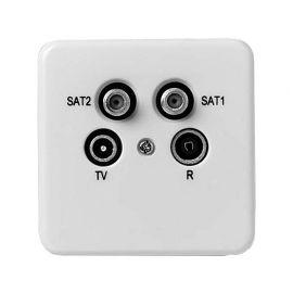 Fracarro R/TV/SAT/SAT WCD incl. afdekpl.+rand Einddoos op=op