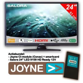 "Joyne bundel: Salora 24"" LED 9109 HD Ready 12V"