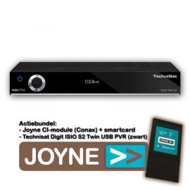 Joyne bundel: Technisat Digit ISIO S2 Twin USB PVR (zwart)