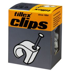Tillex 1157 Kabelclips 5-7mm wit 100st 1.2 x 20mm
