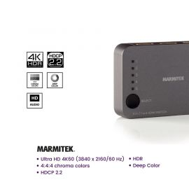 Marmitek Connect 350 UHD 2.0 4K HDMI Switch 5x in / 1x out