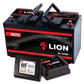 NDS 3LIONSYSTEM Lithium Accu 12V-100Ah + 3LINK 100A 3L-100B