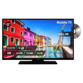 "Nikkei NLD22FMBK SMART 22"" 12V LED FHD DVD S2/C/T2 CI+ HEVC"