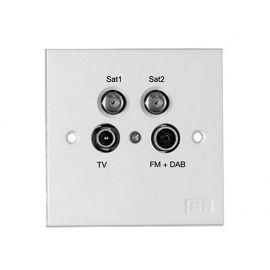 Fracarro TV/FM+DAB/SAT/SAT WCD incl. afdekpl. Einddoos op=op