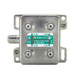 Polytron FV4U F-splitter 4-voudig 5-1000 MHz U vorm