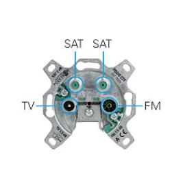 Polytron PODO 2 ST WCD R/TV/SAT/SAT Einddoos