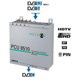 Polytron PCU8510 FTA Compact Headend DVB-S2 >DVB-C