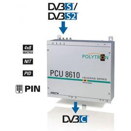 Polytron PCU8610 FTA Compact Headend DVB-S2>DVB-C 4x8 switch