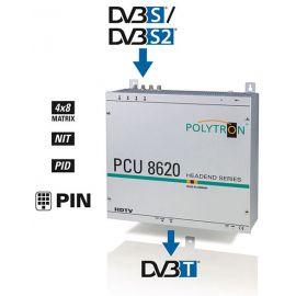 Polytron PCU8620 FTA Compact Headend DVB-S2>DVB-T 4x8 switch