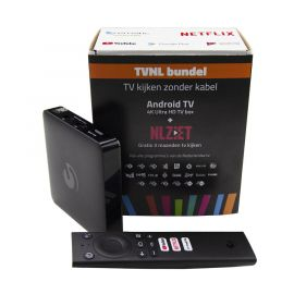 Quantis TVNL bundel 4K Ultra HD Android TV box,3mnd NL Ziet