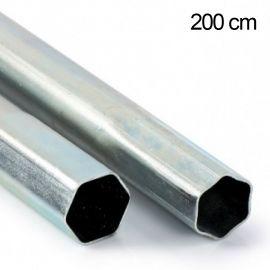 SAB Mast 2 mtr. Ø 42mm, staal (extension buis) B033