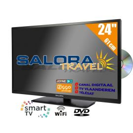 "Salora 24"" Travel TV CI DVB-S2/C/T2 12/230V SMART/DVD/WIFI"