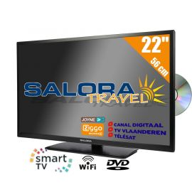 "Salora 22"" Travel TV CI DVB-S2/C/T2 12/230V SMART/DVD/WIFI"