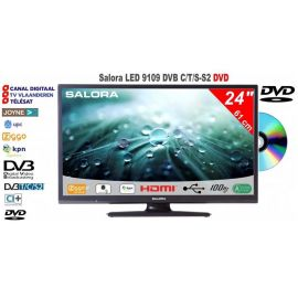 "Salora 24LED9109DVD 24"" led tv met dvd"