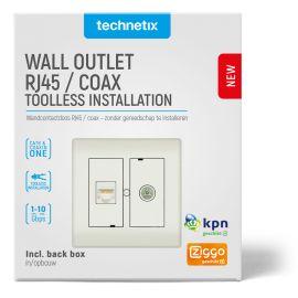 Technetix CL50-COMBI-SHOP TV + RJ45 WCD Einddoos