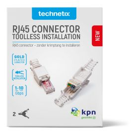Technetix RJ45-DIY-SHOP CAT6 Connector, 2 stuks