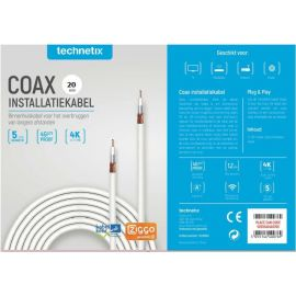 Technetix COAXIH-20M-S SHOP Coaxkabel 20 mtr. Ziggo Geschikt