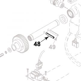Teleco spare part 07710: veerstift 8x45 (FlatSat Elegance)