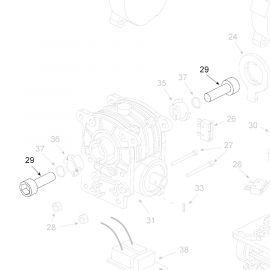 Teleco 13434 spare part Schroef M10x40 T.65/85