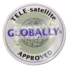 Sticker Globally voor Teleco MagicSat/FlatSat (spare part 08096)
