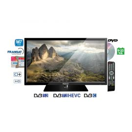 "Teleco TEK 22D TV22"",DVB-S2/T2,DVD,9-32V,HEVC,M7 Fastscan"
