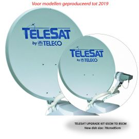 Teleco Upgrade Set (tot 2019 model) TELESAT 65cm naar 85cm