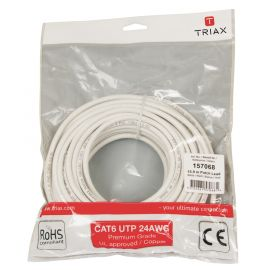 Triax CAT6 patchkabel 15 mtr Wit
