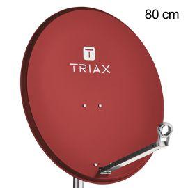 Triax TDA 80R Aluminium 8012 Steenrood Singlepack