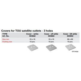 Triax Afdekplaat RTV/SAT (crèmekleurig)