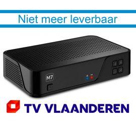 M7 MZ 101 HD ontvanger met geïntegreerde TV Vlaanderen smartcard