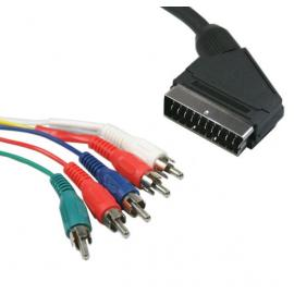 Component YUV Scart-Cinch kabel op=op