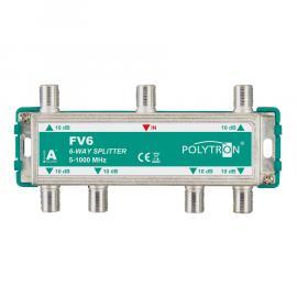 Polytron FV6 F-Splitter 6-voudig 5-1000 Mhz op=op