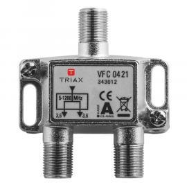 Triax VFC 0421 splitter 2-voudig,1.2GHz,Platinum op=op *EoL*