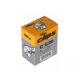 Triax kabelclips 5mm wit 100st. op=op