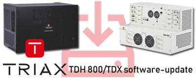 Triax TDX en TDH headends: nieuwe software beschikbaar (4.8.1)
