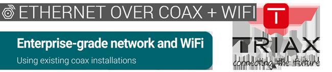 Complete gigabit netwerkoplossing over uw bestaande coaxinfra