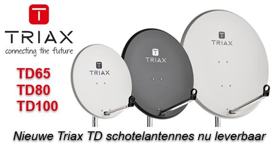 Nieuwe Triax TD schotelantennes nu leverbaar